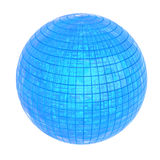 Shiny blue sphere, 3D. Abstract shiny blue sphere, three-dimensional Royalty Free Stock Photos