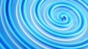 Shiny blue spiral shape abstract 3D render. Shiny blue spiral shape. Computer generated abstract 3D render Stock Photography