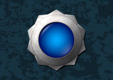 Shiny blue star button Royalty Free Stock Photography