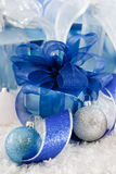 Shiny Blue and White Gifts Royalty Free Stock Photography