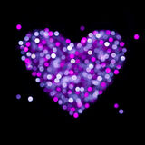 Shiny blurred heart - Valentine card Stock Photo