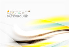 Shiny blurred line waves Royalty Free Stock Images