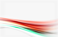Shiny blurred line waves Royalty Free Stock Photography
