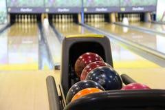 Shiny Bowling Balls Stock Photo