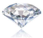 A Shiny bright diamond. Royalty Free Stock Photo