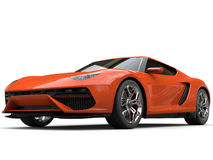 Shiny bright orange sports car Stock Photo