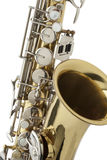 Shiny bronze saxophone Stock Photography