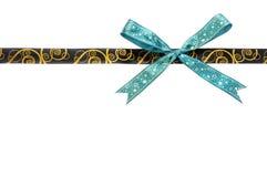 Shiny brown and gold satin ribbon Royalty Free Stock Image
