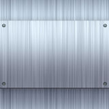 Shiny Brushed Aluminum Royalty Free Stock Photography
