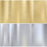 Shiny Brushed Metal Stock Photography