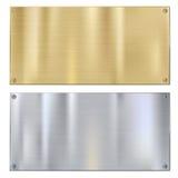 Shiny Brushed Metal Royalty Free Stock Photos