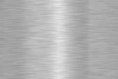Shiny Brushed Steel Metal Texture Stock Photography