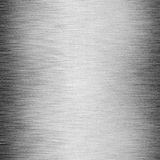 Shiny brushed steel with scratches. Texture or background Royalty Free Stock Image
