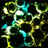 Shiny bubble background Stock Images