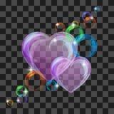 Shiny bubble heart Royalty Free Stock Photos