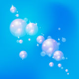 Shiny bubbles. Royalty Free Stock Images