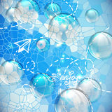 Shiny  bubbles in blue sky Royalty Free Stock Image