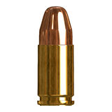 Shiny Bullet. 3D illustration of a single bullet isolated over a white background Royalty Free Stock Photography