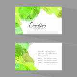 Shiny business or visiting card set. Stock Image