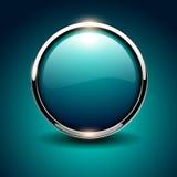 Shiny button Stock Image