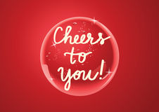 Shiny button/Cheers to you Royalty Free Stock Images
