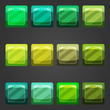 Shiny button 3 Royalty Free Stock Images