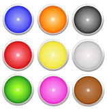 Shiny buttons Stock Images