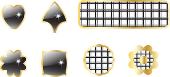 Shiny buttons. And checkered elements Stock Images