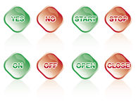 Shiny buttons Royalty Free Stock Images