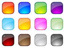 Shiny buttons. Modern web buttons isolated on white background Stock Photos