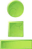 Shiny buttons. 3 stylish Web shiny buttons. Vector illustration Stock Photos
