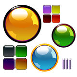 Shiny buttons. Shiny color buttons. Vector illustration vector illustration