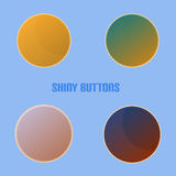 Shiny Buttons With Blue Background Stock Images