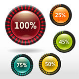 Shiny buttons Stock Photography