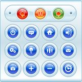 Shiny Buttons and Icons Stock Photo