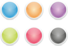 Shiny Buttons Set - Round Stock Photo