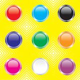 Shiny buttons for web design royalty free illustration