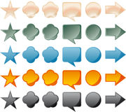 Shiny buttons for web in vector Stock Photo