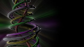 Shiny cables,loop,Alpha included, stock footage Stock Images
