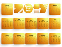 Shiny Calendar for 2017 Year. Shiny Annual Calendar template layout for Happy New Year 2017 celebration Stock Images