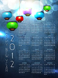 Shiny calender Stock Photo