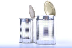 Shiny cans Royalty Free Stock Image