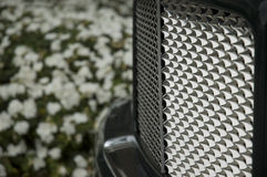 Shiny Car grill stock images