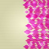 Shiny Card with Pink Wavy Elements Stock Images