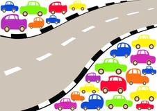 Shiny cars background royalty free stock photos