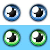 Shiny cartoon eye collection Royalty Free Stock Photo
