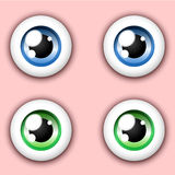 Shiny cartoon eye collection Stock Images