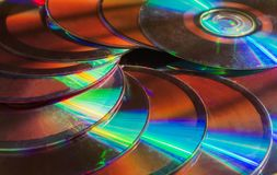 Shiny cd disk pattern. royalty free stock image