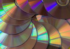 Shiny cd disk pattern. royalty free stock photography