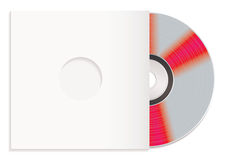 Shiny cd and paper case Stock Images